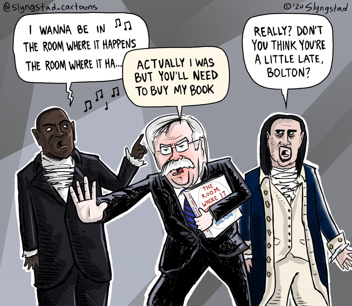 Don't buy John Bolton's book. He had his chance to talk and he threw away his shot. @Lin_Manuel @leslieodomjr @HamiltonMusical #JohnBolton #Hamilton #TheRoomWhereItHappened #HamiltonTheMusical https://t.co/UtTPOI8GxE