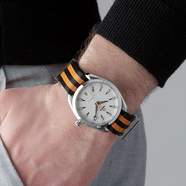 NOW IN STOCK - Shop https://t.co/2SiZgbWyPr for the Omega Seamaster Aqua Terra #GolfEdition Men's Watch 220.12.41.21.02.003 - Featuring the black and orange #NATOstrap  https://t.co/mGPOMDyYnj  #Omega #OmegaSeamaser #SeamasterAquaTerra #AuthenticWatches https://t.co/k8aFAopNEV