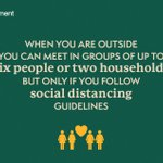 Image for the Tweet beginning: You can meet outside in