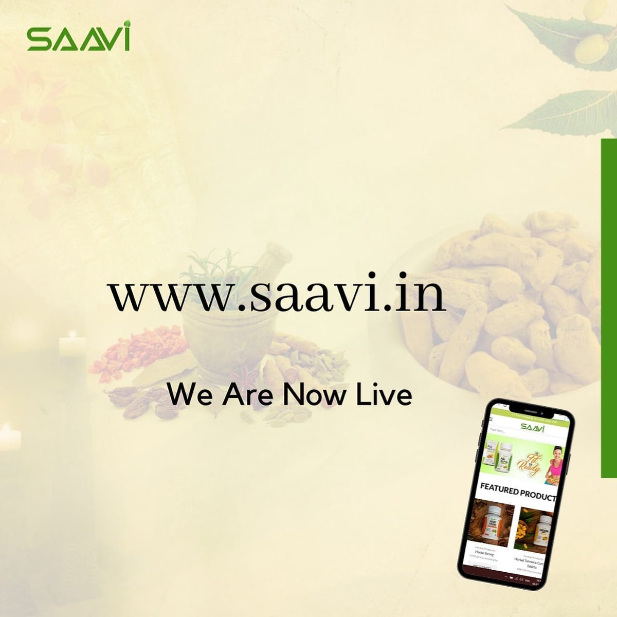 """Saavi brings you """"Scientifically advanced ayurveda of India"""" at your convince.   Now all your pure ayurvedic needs will be just a click away  Stay connected  _______ . .  #saavi #india #ayurved #innovation #jaipur #update #bestpost #suppliments #natural #healthylifestylepic.twitter.com/i77fXRCI9m"""