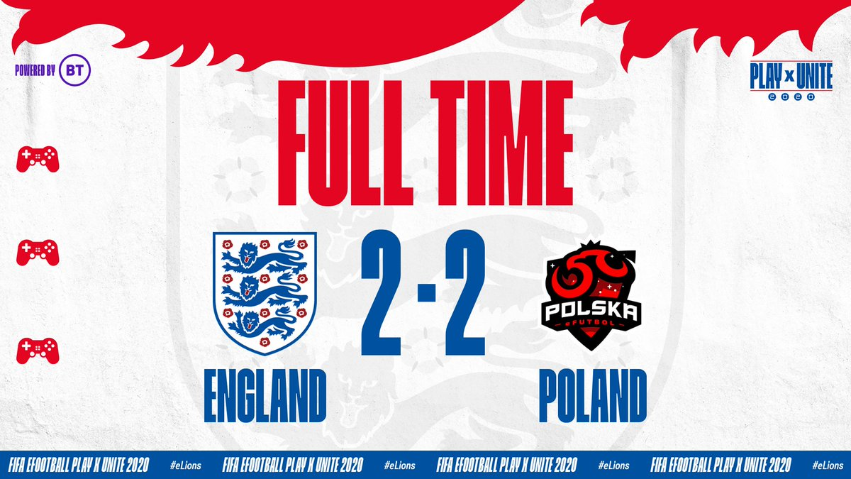 All to play for after a draw for @HashtagTom_ against Poland.  A win for @Tekkz will send our #eLions through to the final! https://t.co/tu770hrnJV