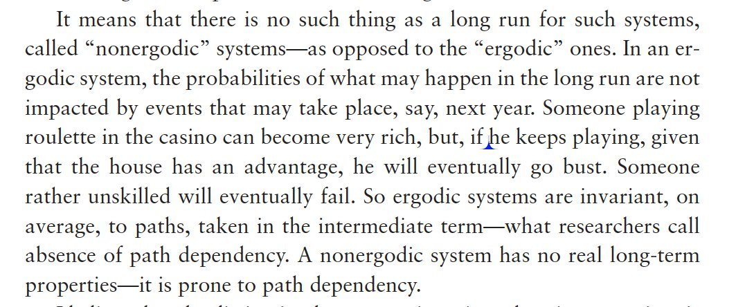 Forgot that I discussed ergodicity in The Black Swan! Second edition, 2009.  cc:@ole_b_peters https://t.co/OAdc0MOBRF
