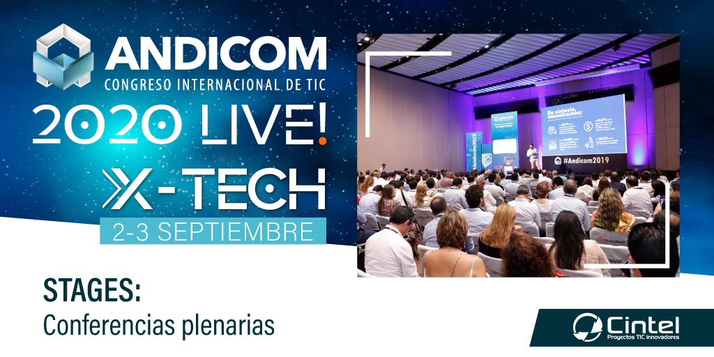 #STAGES será uno de los escenarios virtuales donde tu empresa podrá participar de las conferencias en plenaria con expertos nacionales e internacionales. Participa y reserva tu espacio en https://t.co/1fcTFW700J #ANDICOM2020 Live #X-TECH  @CINTELColombia https://t.co/xV6Xcr63ME