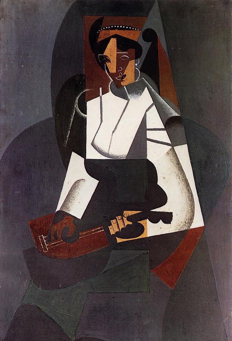 Woman with a Mandolin (after Corot), 1916 #spanishart #juangris <br>http://pic.twitter.com/ESkWiOvQel