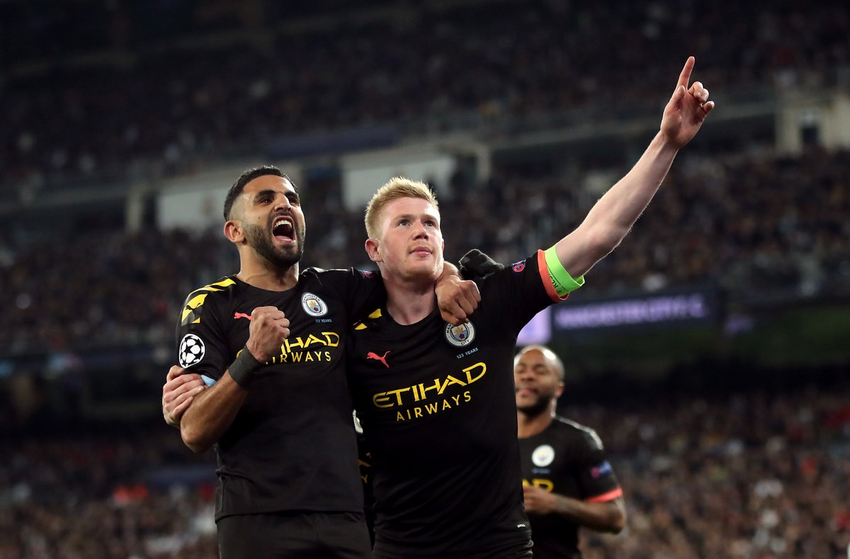 For the first time in Premier League history, five team-mates have scored 10+ goals in single season: ✓ Sergio Agüero ✓ Raheem Sterling ✓ Kevin De Bruyne ✓ Gabriel Jesus ✓ Riyad Mahrez They didnt even need Leroy Sané. 😉