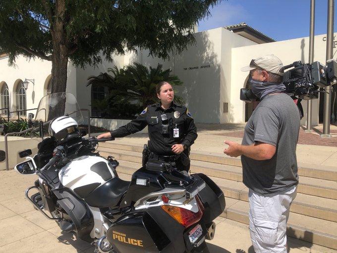 MEET CORONADO'S 1ST FEMALE MOTOR OFFICER motorcycle