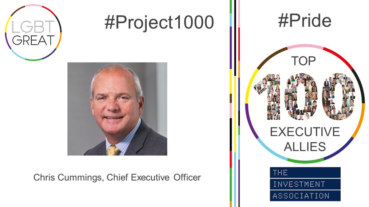 """I am passionate about ensuring great talent has every opportunity to thrive and succeed in the investment management industry and this means for LGBT+ people too"" - Chris Cummings, Chief Executive Officer, @InvAssoc #Project1000 #Pride #YouMeUsWe https://t.co/h4zmZbRJwZ https://t.co/dWDGShor4b"
