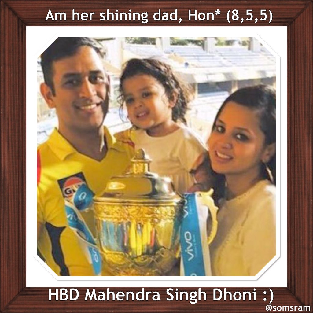 """Am her shining dad, hon""' -an #anagram of ""Mahendra Singh Dhoni"" -a name with ""handsome"" and ""Indian"":) @ChennaiIPL @CSKingsIPL @CskIPLTeam @CSKFansArmy @CSKFansOfficial @CskIPLTeam  @DhoniArmyTN @DHONIism @TrendsDhoni @msdfansofficial @TheDhoniEra @fc_msdhoni @msdhoni #Yellove pic.twitter.com/bG667W11Ft"