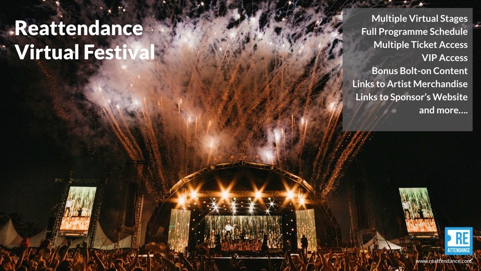Your Festival Your Way - #LIVE AND #VIRTUAL  All the features of the physical event and more. Sell #Tickets, Multiple #rooms and #stages can be open at the same time, #VIP Access, #Merchandise and Sponsorship and Multiple Access. Call 0333 358 0014 https://t.co/YsRy5kfBZ1 https://t.co/1dSSkegYk1