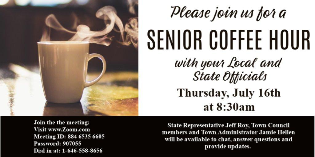 Senior Center coffee hour - July 16