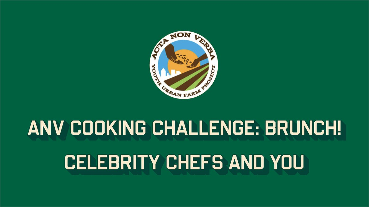 Join celebrity chefs Jennifer Booker, Alice Waters, Bryant Terry, and Nikki Shaw as they go virtually head-to-head to support @anv_youth_farm this Saturday at 10 a.m.! Find out who will emerge sunny-side up: https://t.co/k3pgoG1hW9 https://t.co/Yhu4F3sxWA