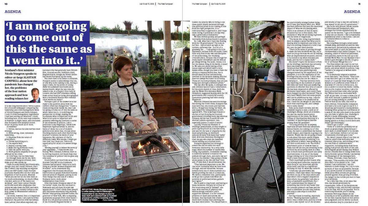 Read @campbellclarets interview with Scotlands first minister Nicola Sturgeon in Thursdays edition. In shops for £3 or get it on your digital device here: buff.ly/2vSwTsy