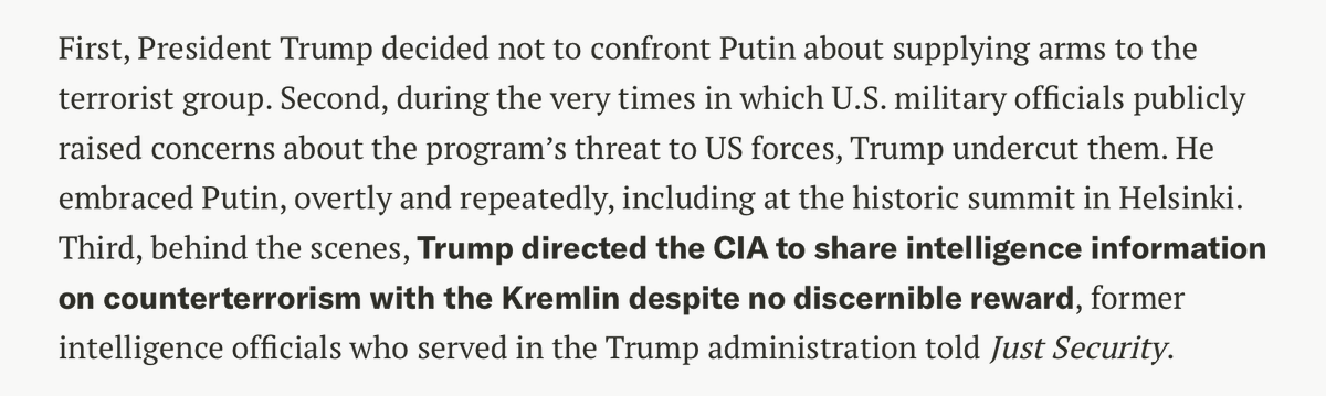 Replying to @ericgarland: Trump has been a traitor the entire time.