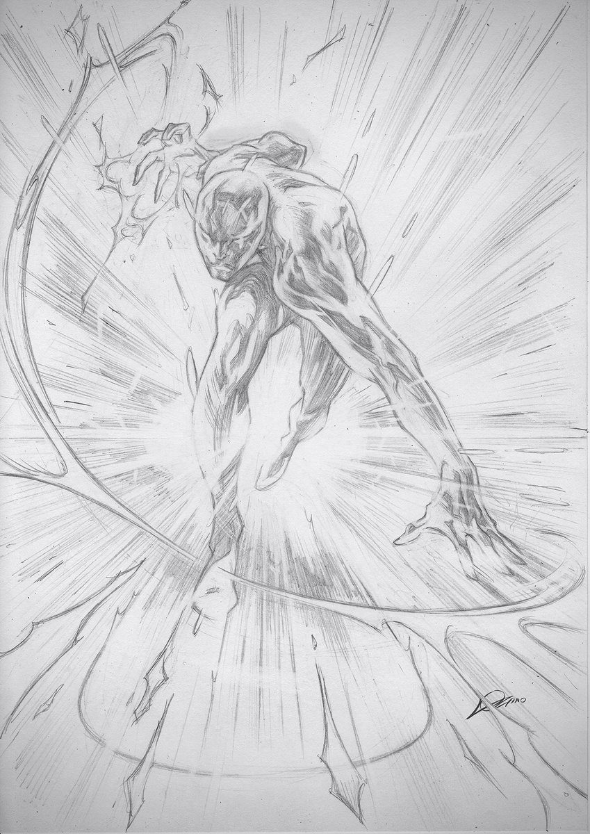 SILVER SURFER! (To wield the Power Cosmic is to be in touch with every other living thing at once...) question: what makes the silver surfer so appealing to you? my answer: everything! #SilverSurfer #Galactus #PowerCosmic #JackKirby #StanLee #Marvel #AlexanderLozano