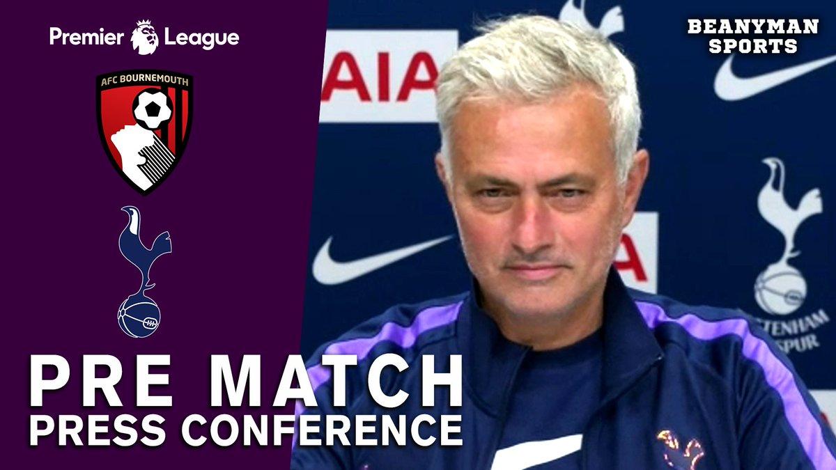 VIDEO - Jose Mourinho FULL Pre-Match Press Conference - Bournemouth v Tottenham - Premier League https://t.co/dVDbdgYcsY PLEASE SHARE! #BOUTOT https://t.co/wTJlSamBw8