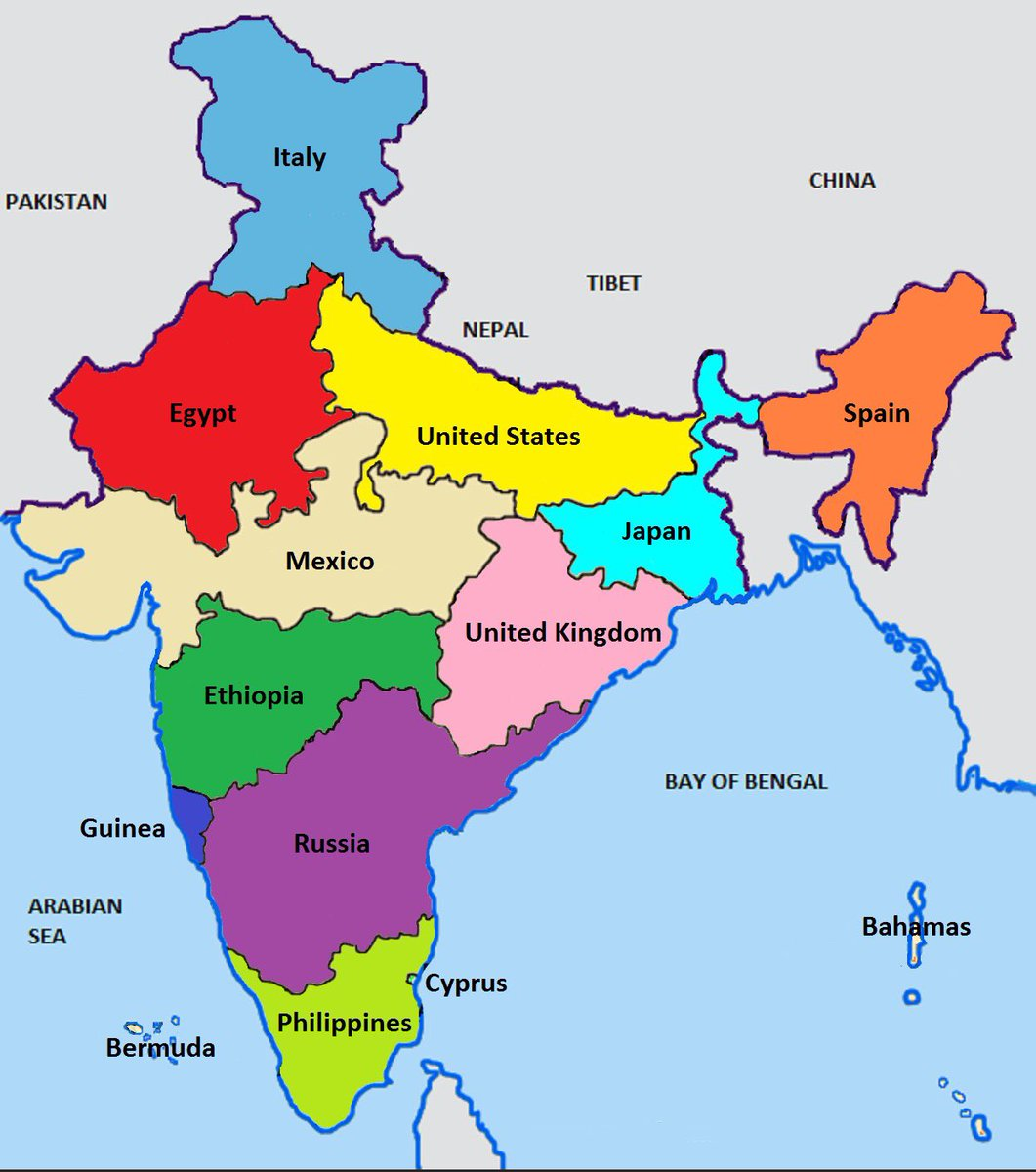 MAP BREAK  The population of India compared to other countries https://t.co/0rlQYAiRi5
