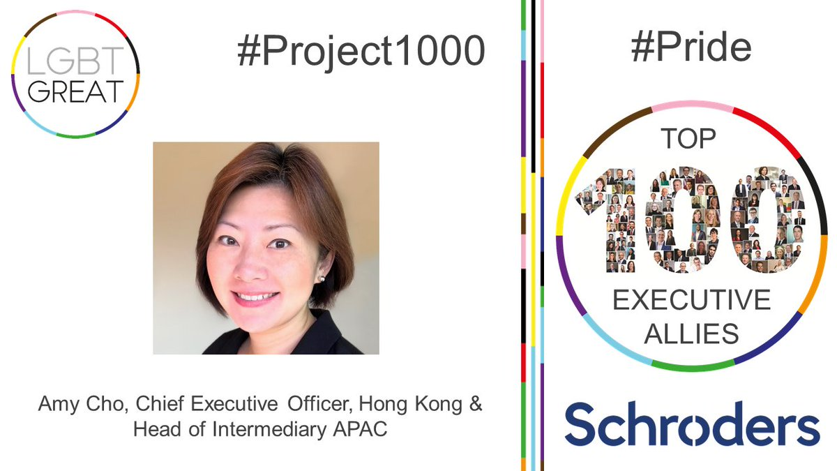 """An ally is not a super-hero, but gives support to people to speak for themselves. Naturally, this is the job of a senior leader"" - Amy Cho, Chief Executive Officer, Hong Kong & Head of Intermediary APAC, @Schroders #Project1000 #Pride #YouMeUsWe https://t.co/h4zmZbRJwZ https://t.co/1KvxJ568AI"