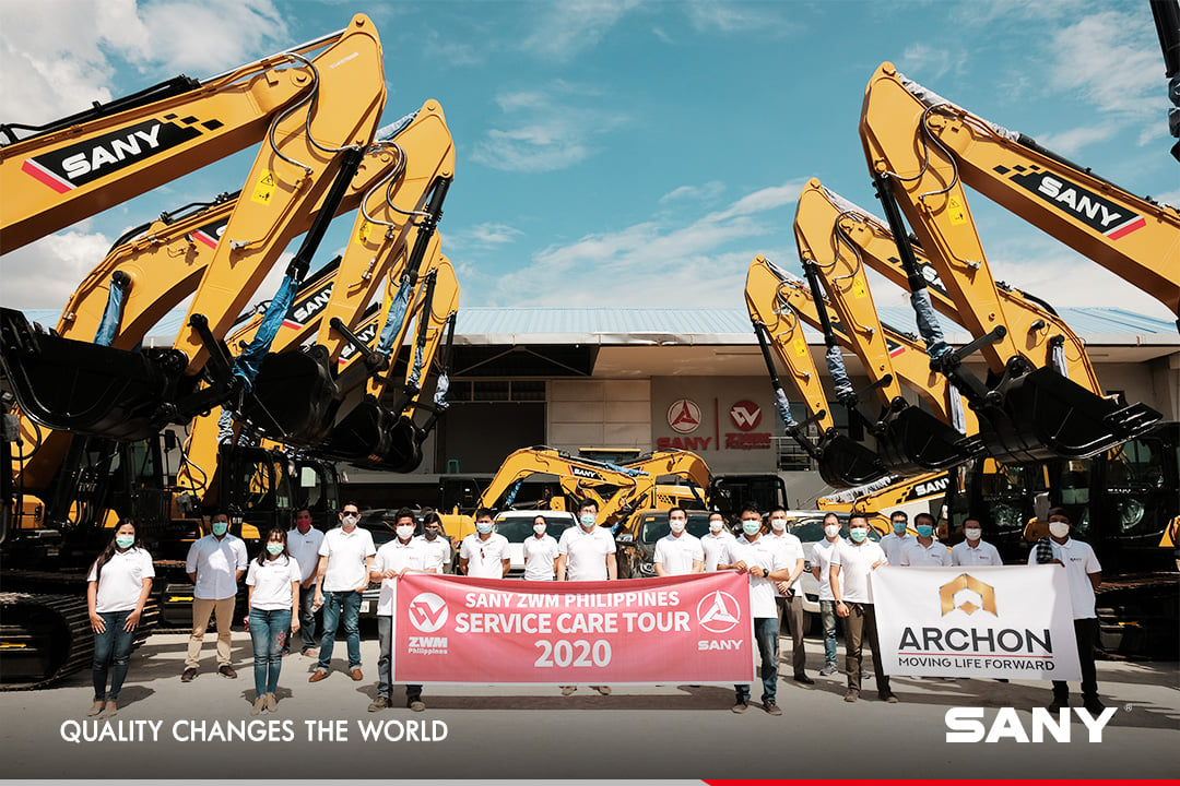 Service goes first!  SANY 'service care tour 2020' kicks off in the Philippines. Seven service branches has been established to conduct a complete equipment inspection and maintenance for customers in the Philippines #SanyService https://t.co/n1n1bWz51r https://t.co/YWs6baEdq1