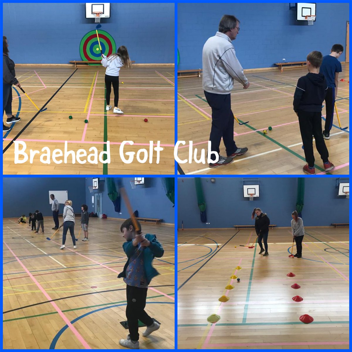 CLUB CONNECT Today we have Ron from @Braeheadgolf leading the children in golf as part of the summer learning hub programme @AlloaAcademy ⛳️⛳️ Great fun developing their putting & chipping skills 👍 @ScottishGolf @sportscotland @ClacksEducation #partnerships https://t.co/0nuvtlp3nf