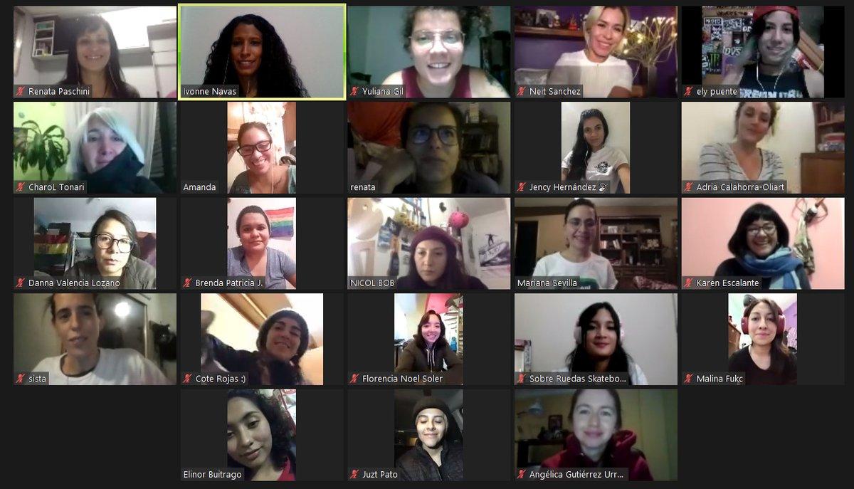 Latin America Womxn & Skateboading meeting!! Trabajo Colaborativo! #skatersUnides #womxn #skatergirl #equidad #inclusion #diversidad #Skateboarding #skateordie #SalvameRadio #skatergirls #Empowerment #WeAreAllStars #CreateAtHomepic.twitter.com/jpNZHed21O