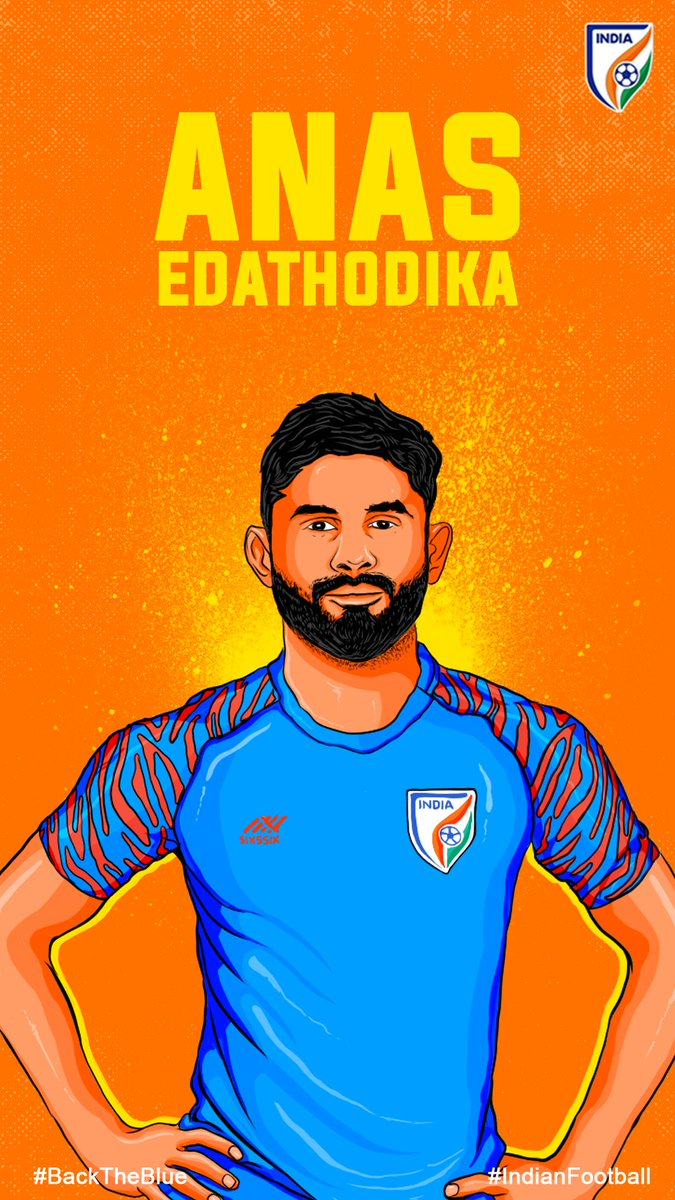 This #WallpaperWednesday, we have the rock-solid 💪🏻 defender @anasedathodika for your screens! 🔥📱 #IndianFootball ⚽ #BackTheBlue 💙 #BlueTigers 🐯