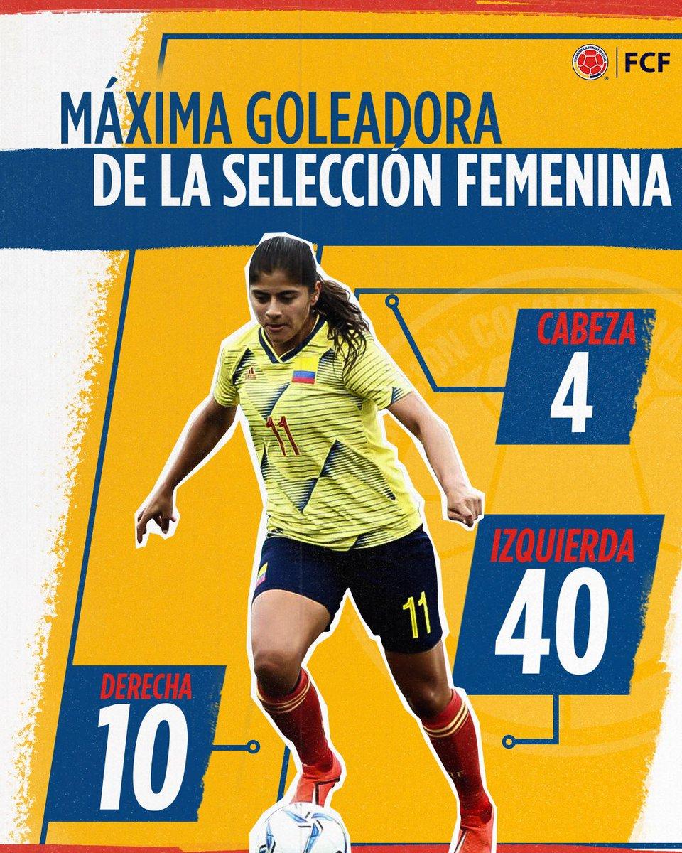 La gran @catausme es la máxima goleadora de la Selección Colombia Femenina en todas sus categorías 🙋♀️ ¿Sabes cómo han sido los 5️⃣4️⃣ goles que ha marcado con la tricolor?  🤔  De cabeza❓ De zurda ❓ De Derecha❓   ¡Conoce la respuesta!👇🏼 https://t.co/ofXUNOPNZO