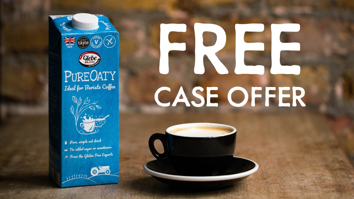 .@GlebeFarmFoods is lending a helping hand to all cafes and coffeeshops by offering a free case of barista grade #Pureoaty oat drink – made with all British oats and just 4 ingredients! To claim the 10x1L offer click https://t.co/uHA0ykXXpe    #ad #oatmilk #oatdrink #coffee https://t.co/j5uPvhfTdt