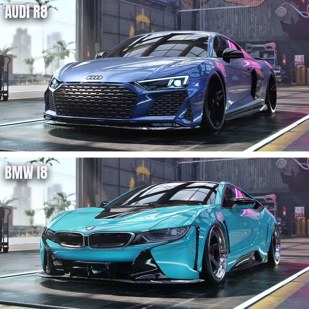 Cone 11 On Twitter Nfs Heat Audi R8 Vs Bmw I8 Which Is Fastest Needforspeed Nfs Nfsheat Audi Bmw R8 I8 Whichisfastest Cone11 Https T Co 0plwrfwlyv Https T Co Bbs8zuhbpg
