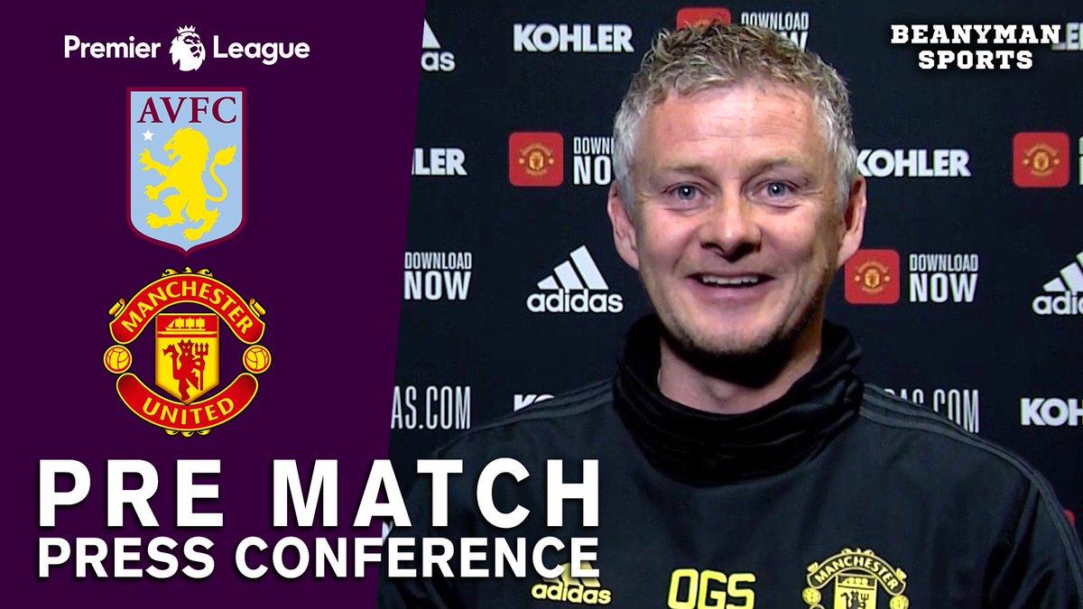 VIDEO - Ole Gunnar Solskjaer Pre-Match Press Conference - Aston Villa v Man Utd - Premier League https://t.co/HF4kbKHjrm PLEASE SHARE! https://t.co/lq0CFPo1On