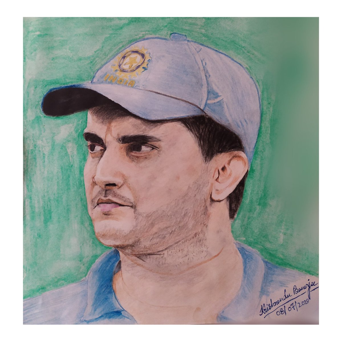 One Man who taught aggression to the Indian cricket and showed the real Dadagiri to the World. Very Happy 48th Birthday Dada, our beloved @SGanguly99    শুভ জন্মদিন মহারাজ#HappyBirthdayDada #dada #SouravGanguly  #cricket #artsofrantu #sketch #pencilsketch pic.twitter.com/z3Ts3kWKVk