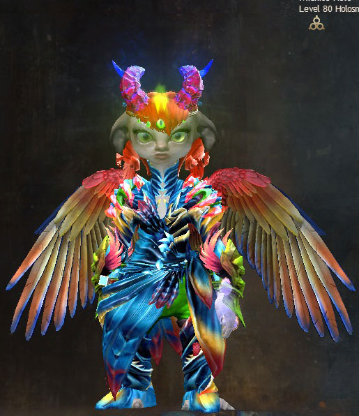I haven't been on much lately. Btwn chemo, rona & sh*tty sh*t all around, I need a break. So, I've been immersing myself in the fantasy world of Tyria. I made a new #GuildWars2 toon for #PrideMonth. We held an in game #PrideMarch that was fun. Meet Midnite Holo. She's a badass. https://t.co/dzgeQ8Kfr6