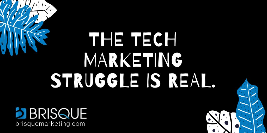 One of the biggest challenges with marketing technology products is brand differentiation. We get it. We are here to help you create a strategy that is centered around your target audience. View Strategies: https://bit.ly/38f1cbK #techmarketing #techstartup #techcommunitypic.twitter.com/DeAfOeJPoG