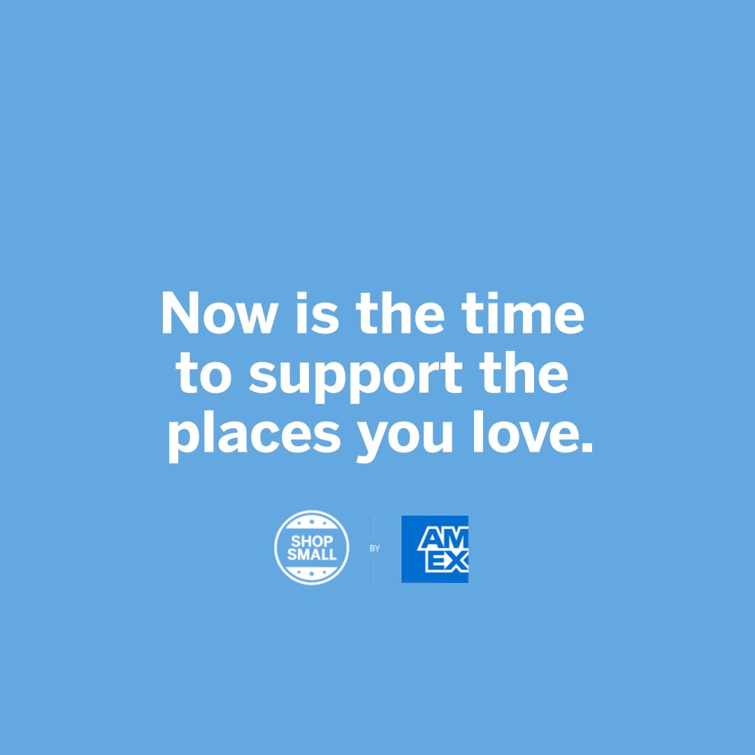 We are happy to partner with @AmexBusiness and to support their #ShopSmall initiative.