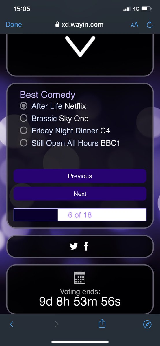 I just voted for @rickygervais #AfterLife in the @TVChoice awards! I'm a clever boy... get voting everyone, it's easy!   1 - skip to 'best comedy' 2 - choose After Life  3 - skip to the end and submit your vote  Come on #CatsOfTwitter and #DogsOfTwitter... we're his bestest fans! https://t.co/u1Ui42cdk3