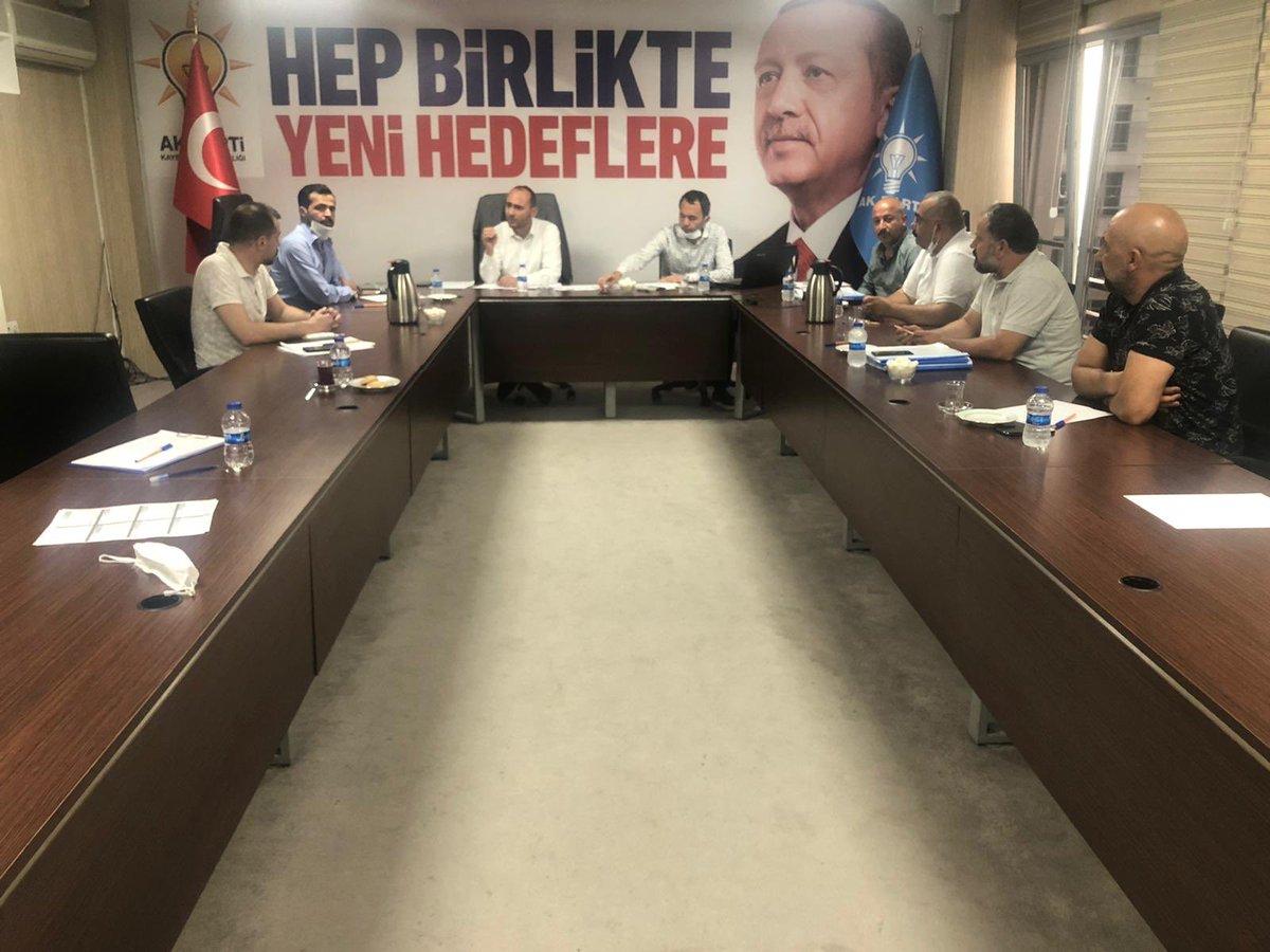 Teşkilatlardan sorumlu Başkan yardımcımız Abdulkerim Yalçın başkanlığında düzenlenen toplantıda İlçe Koordinatörlerimiz, İlçe Başkanımız ve İlçe Teşkilat Başkanımız ile Felahiye İlçemiz hakkında görüşmeler gerçekleştirildi. @erkankandemir @halisdalkilic @sabancopuroglu https://t.co/L4Wtu6raFa