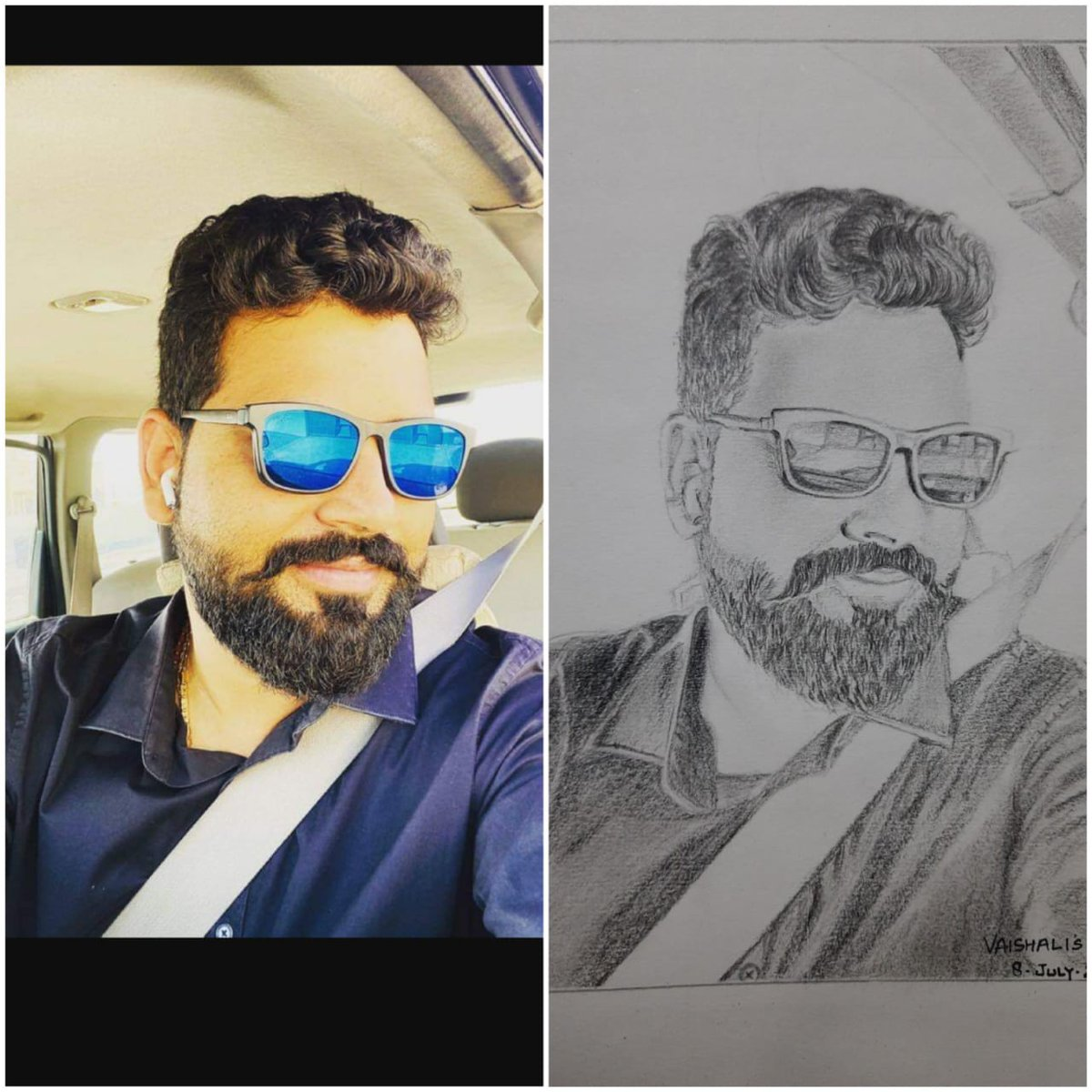 @vaishaliartgallery Love for art can make me awake all night. #pencilsketch #realisticart You can order too to gift your loved ones.pic.twitter.com/xbjtpcfd87