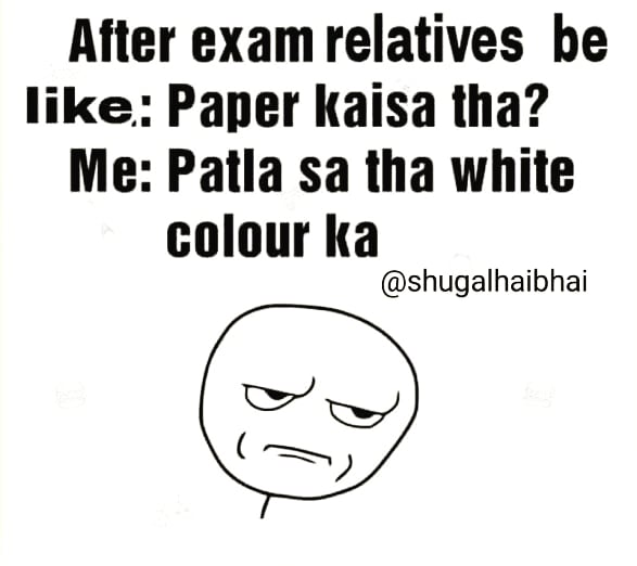 #Tag your bestie #meme #memes #meme2020 #memesdaily #funny #funnyvideos #joke #jokes #instagram #lol #comedy #laugh #Trollz #dankmemes #hindi #hindimemes #desimemes #today #funnyquotes #indianjokes #backchod #love #comedy #comedyclub #comedymemes #Exams #paperpic.twitter.com/6fJZzGTYvP