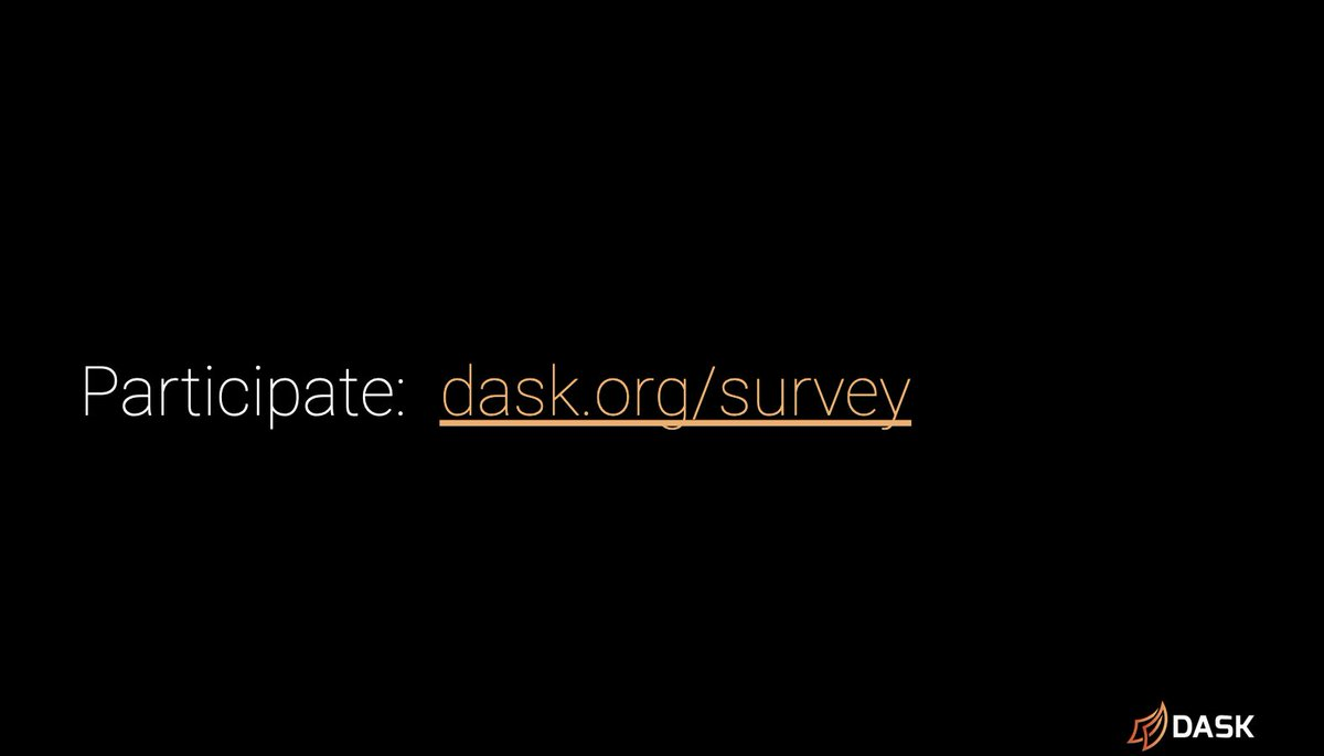 Link to the Dask survey