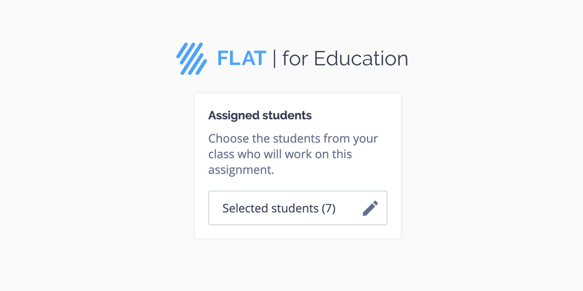 Every student is unique. Use today's new Flat for Education feature to assign work to individuals based on their needs: https://t.co/7WVPv5HrgW #musictech #differentiation https://t.co/5S2BcXilRk