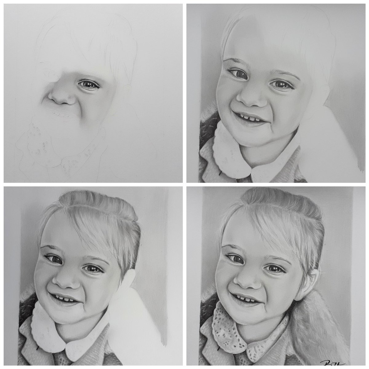I love looking at the progress of a drawing, so nice when it all comes together after so many hours #artoftheday #artwork #art #ArtistOnTwitter #artist #draw #drawing #portrait #portraitart #portraitartist #graphite #pencilsketch #pencildrawing #pencilart #pencildrawingpic.twitter.com/5SMxgai6mb