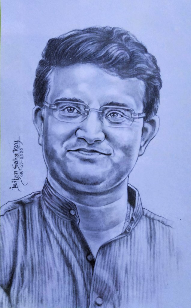 #মহারাজ #HappyBirthdayDada  @SGanguly99 #SouravGanguly #captain #indiancricketteam #art #indianartist #artwork #artlovers #sketch #drawing #portrait #portraitart  #pencilsketch #pencilart #pencildrawing #pencilartwork #pencilwork #dada #Dadagiri #legend #Legendary #BCCIPresidentpic.twitter.com/AfOarB34cL