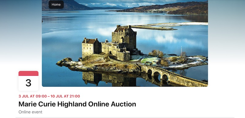 Online Auction in Aid of Marie Curie @mariecurieuk @MarieCurieSCO thehighlandtimes.com/news/2020/07/0…