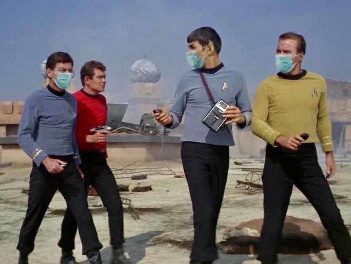 Wear a mask, please. Live long and prosper.