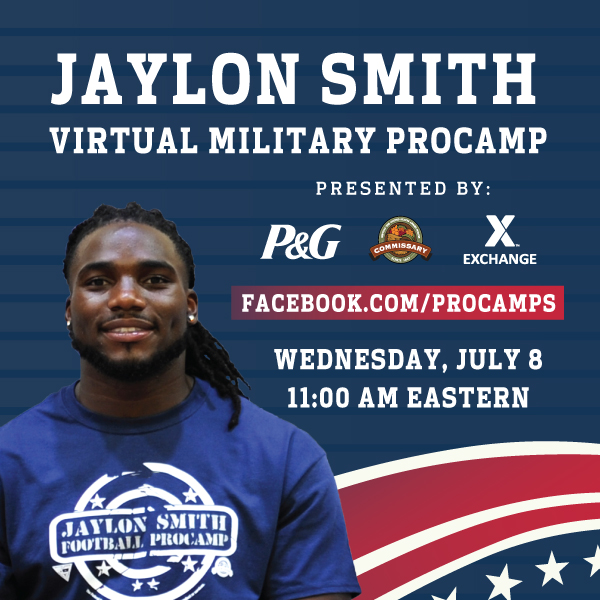 Join me at NOW at 11 am ET for a Virtual Military ProCamp event featuring football drills and fan Q&A. Im teaming up with @ProcterGamble, @YourCommissary and @ShopMyExchange. We will be live at Facebook.com/ProCamps