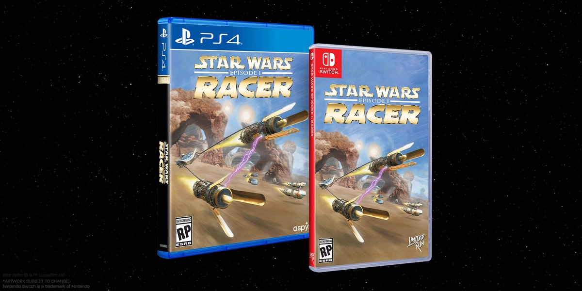 You could win a physical copy of Star Wars: Episode 1 Racer for Switch or PS4! Follow @LimitedRunGames, @aspyrmedia, and @StarWarsGames, then like and retweet to be entered. We will draw a winner tomorrow at 11am ET. GLHF!