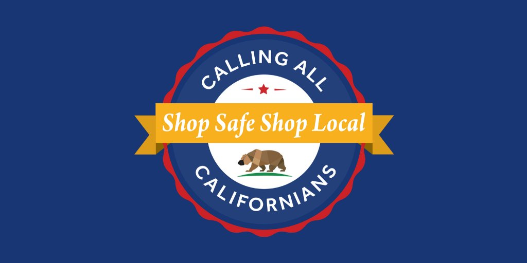 📣The Governor's (@CAgovernor)Task Force on Business & Jobs Recovery, along w/ @CaliforniaOSBA and @CAGoBiz, are helping #SmallBiz do biz safely & go digital. We're launching Calling ALL Californians: #ShopSafeShopLocal.   ⮞ https://t.co/JdCoHRwui8 & https://t.co/yK0tbCNitS https://t.co/5gFyM8Gt7p
