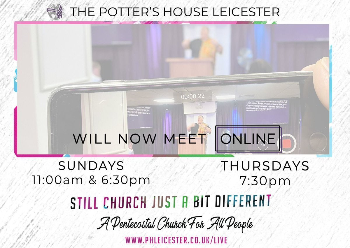 #livestream #live #phleicester #leicester #church #StayAtHome #online #services https://t.co/9WyVFj0eYA