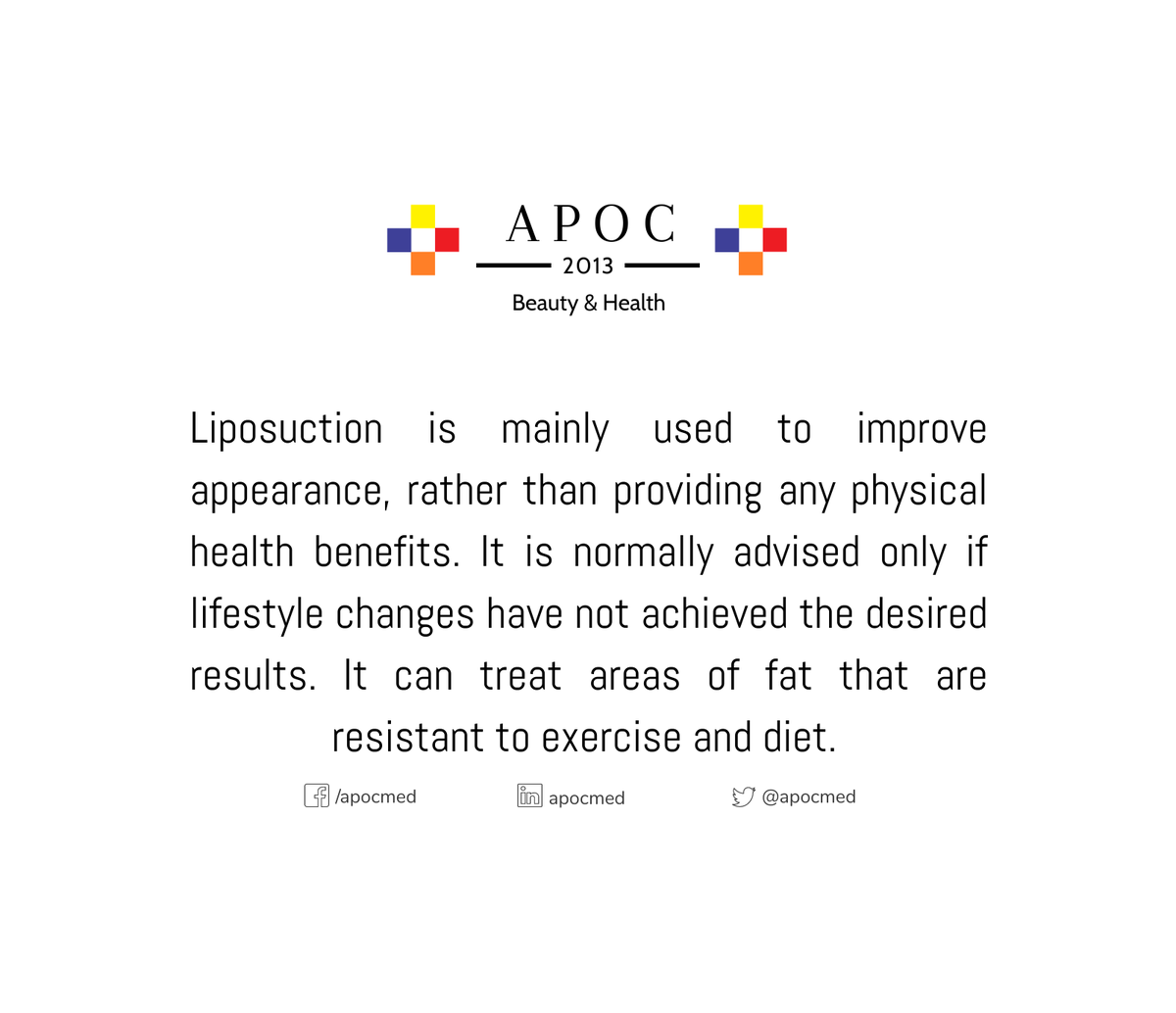 Liposuction  Call us and schedule your consultation! 😉  ☎️ 7149484281 ✉️ consults@apocmed.com  Any doubts about this procedure? Write us!  -Team APOC- #BodyCare #Health #California #StayAtHome #men #women #OrangeCounty #wednesdaymorning #WednesdayMotivation #Summer2020 https://t.co/lk8FAOQk9b