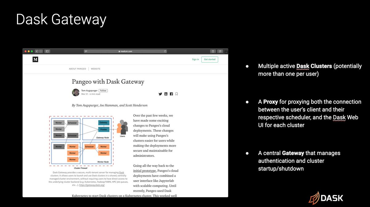 Slide showing Dask Gateway overview
