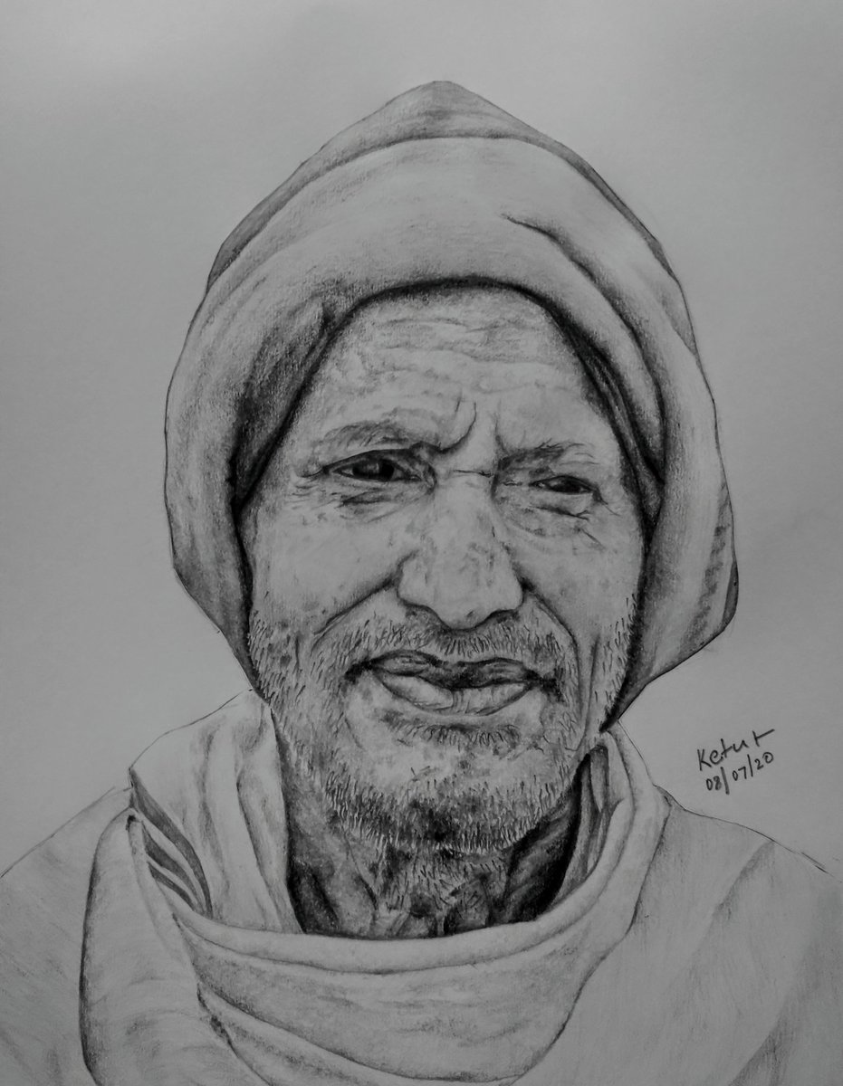 Dadu  10 hrs of work in 4 days. Pencils - HB, 6B and 12B. Normal drawing paper. Give your opinion where i can improve . #sketch #pencilsketch #drawing #portrait #Pencildrawing #Sketching #sketchespic.twitter.com/iQUKuRrpJE